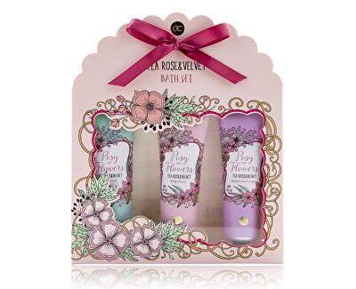 Kozmetikai szett tea rózsa és velvet illattal Posy of Flowers