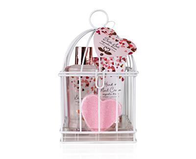 Set cosmetic cu parfum de magnolie în cușca unei păsări Heart Cascade