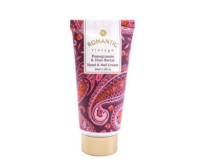 Kéz és körömápoló krém illat gránátalma és shea vaj illattal Romantic Vintage (Hand & Nail Cream) 60 ml