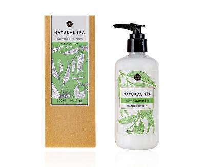 Loțiune delicată pentru corp și mâini de eucalipt si iarba de lamaie Natural spa (Hand Lotion) 300 ml