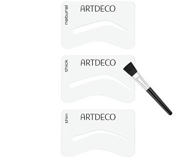 Artdeco Šablony na obočí se štětečkem (Eyebrow Stencils with Brush Applicator)