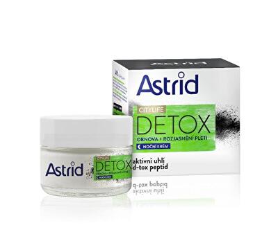 Obnovující rozjasňující noční krém  Citylife Detox 50 ml - SLEVA - poškozená krabička