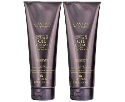 Alterna Sada kondicionérů pro okamžitou intenzivní hydrataci vlasů Caviar Anti-Aging (Moisture Intense Oil Créme Deep Conditioner) 2 x 458 ml