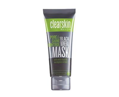 Hluboko čisticí minerální pleťová maska s výtažkem z hamamelu a eukalyptu Clearskin (Black Mineral Mask) 75 ml