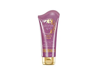 Avon Obnovující slupovací pleťová maska se zlatými částečkami a vonnou esencí z agarového dřeva Planet Spa (Radiant Gold) 50 ml