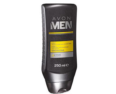 Avon Sprchový gel 3 v 1 Men Energizing (3-In-1 Shampoo, Conditioner And Body Wash) 250 ml