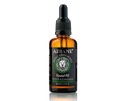 Pečující olej na vousy s arganovým olejem Vetiver a kardamon (Beard Oil) 30 ml