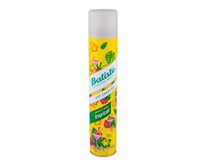 Suchý šampon na vlasy s vůní tropického ovoce (Dry Shampoo Tropical With A Coconut & Exotic Fragrance) 400 ml