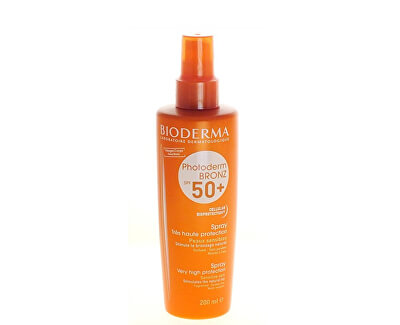 Bioderma Sprej pre citlivú pleť SPF 50+ Photoderm Bronz (Spray Very Hight Protection) 200 ml