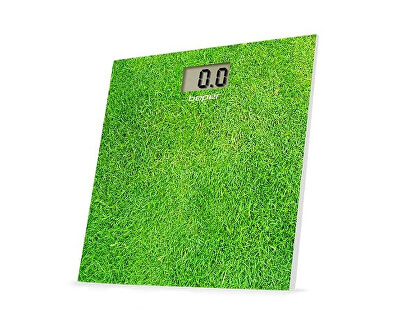 Digitální skleněná osobní váha do 150 kg 40810, zelená - tráva