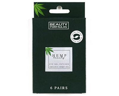 Măști gel pentru ochi cu cânepă Hemp Beauty (Eye Gel Patches Organic Hemp Oil) 6 perechi