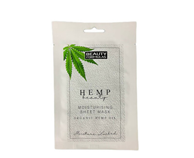 Hemp Beauty ({{Moisture Sheet Mask Organic Hemp Oil 1 db hidratáló bőrmaszk kendermaggal