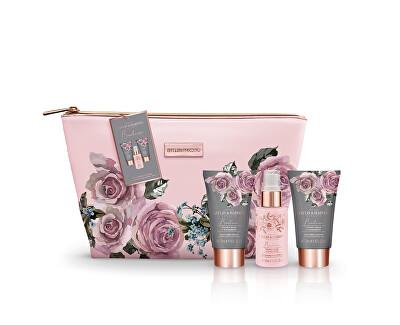Kosmetická sada tělové péče v taštičce Sametová růže a kašmír 3 ks - SLEVA - oděrky na sponě