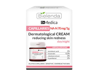 CremăDermatologica împotriva roșeții pielii Dr. Medica Capillaries(Derma tologic Anti-Roșeațã Face Cream) 50 ml