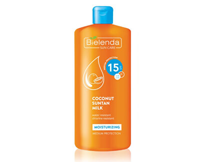 Lapte de cocos hidratant pentru bronzare SPF 15 Bielenda Sun Care(Coconut Suntan Milk) 200 ml
