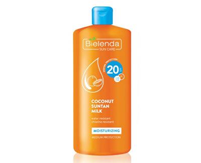 Feuchtigkeitsspendende Kokosmilch zum Sonnenbaden SPF 20 Bielenda Sun Care (Coconut Suntan Milk) 200 ml