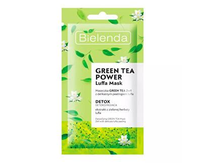 Mască hidratantă de peeling cu ceai verde 2 in 1  (Facial Mask) 8 g