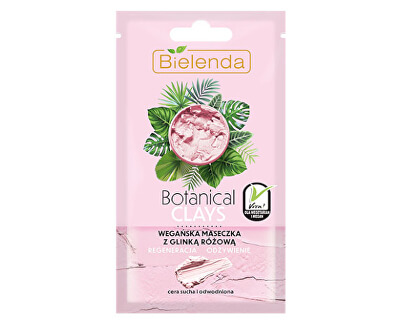 Mască nutritivă pentru pielea uscată cu argilă Botanical Clays (Vegan Mask) 8 g