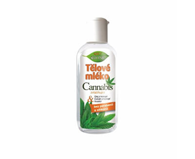 Zvláčňující tělové mléko Cannabis 80 ml