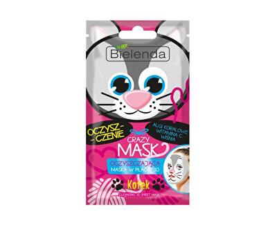 Čisticí maska 3D Crazy Mask (Cleansing 3D Sheet Mask Cat) 1 ks