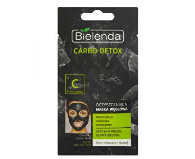 Čisticí maska s aktivním uhlím pro mastnou a smíšenou pleť Carbo Detox (Cleansing Carbon Mask) 8 g