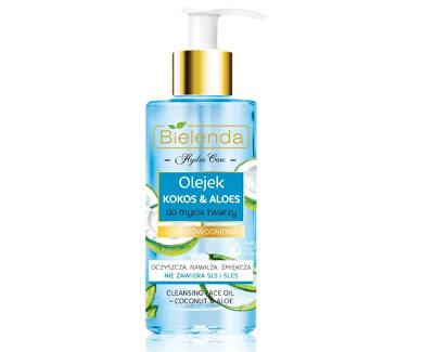 Čisticí pleťový olej pro dehydratovanou a suchou pleť Hydra Care (Moisturizing Face Cleansing Oil Coconut & Aloe) 140 ml