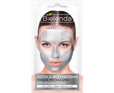 Detoxikační čisticí maska pro mastnou a smíšenou pleť Silver Detox (Detoxifying Face Mask) 8 g