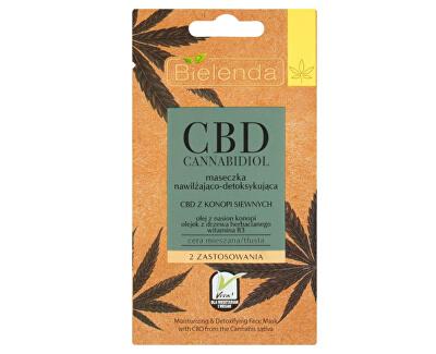 Hydratační a detoxikační maska pro smíšenou a mastnou pleť CBD Cannabidiol (Face Mask Moisturizing & Detoxifying For Mixed & Oily Skin) 8 g