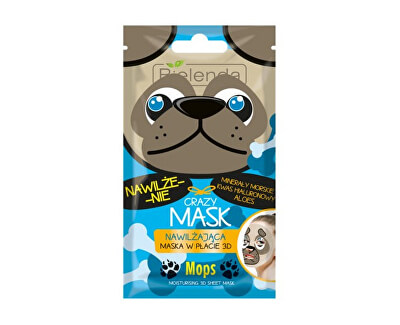 Hydratační maska 3D Crazy Mask (Moisturizing 3D Sheet Mask Dog) 1 ks