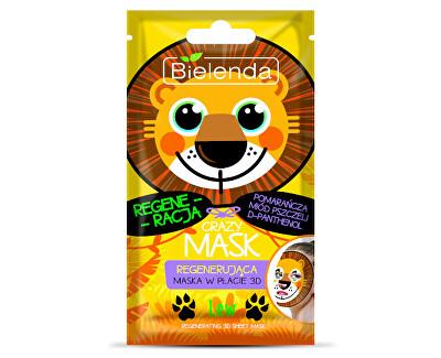 Regenerační maska 3D Crazy Mask (Regenerating 3D Sheet Mask Lion) 1 ks
