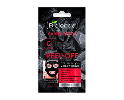 Slupovací maska s aktivním uhlím pro mastnou a smíšenou pleť Carbo Detox (Charcoal Peel-Off Mask) 2x6 g