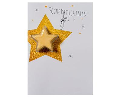 Šumivé přání s balistikem do koupele Congratulations Star (Blaster Card) 45 g