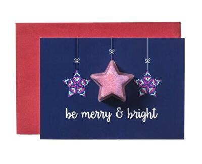 Šumivé přání s balistikem do koupele Be Merry & Bright (Blaster Card) 45 g