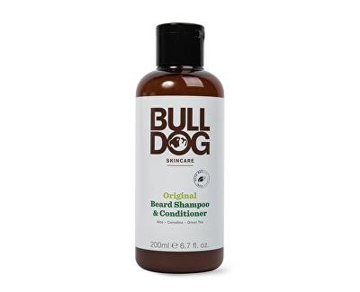 Szakállápoló sampon és balzsam 2 az 1-ben  normál bőrreBulldog Original Beard Shampoo & Conditioner 200 ml