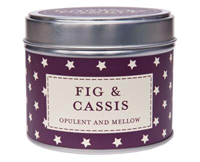 Country Candle Vonná svíčka v plechu Fík a černý rybíz (Fig & Cassis) 231 g