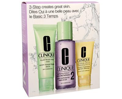 Clinique Čisticí péče pro smíšenou až suchou pleť (3-Step Intro Kit for Skin Type 2)
