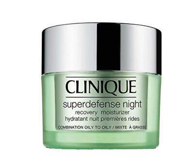 Noční hydratační krém pro smíšenou až mastnou pleť Superdefense (Night Recovery Moisturizer Combination To Oily Skin) 50 ml - SLEVA - poškozená krabička