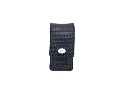 Luxusní 4 dílná manikúra v černém koženém pouzdře Noble Black