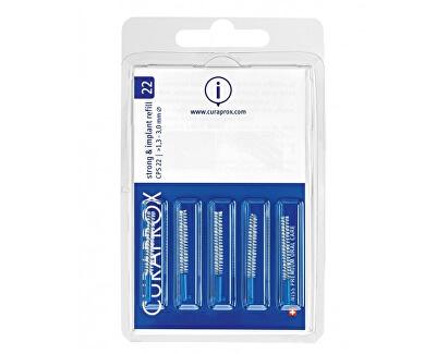 Náhradní mezizubní kartáčky na čištění implantátů Strong & Implant Modrá (Refill) 28 CPS 22 5 ks