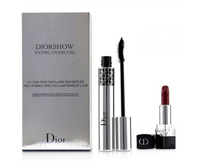 Set cadou cu rimel Diorshow Iconic Overcurl + Mini Rouge Dior Lipstick Set