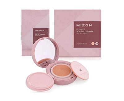 Fluidní korekční make-up s rakytníkem a SPF 50+ s náhradní náplní (Correct Vita Oil Cushion SPF 50+ And Refill) 2 x 15 g