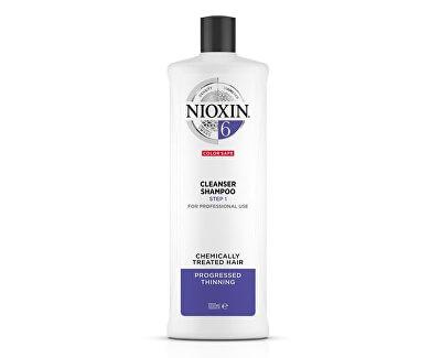 Čisticí šampon pro řídnoucí normální až silné přírodní i chemicky ošetřené vlasy System 6 (Shampoo Cleanser System 6)