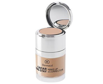 Dermacol Dlouhotrvající make-up s výtažky z kaviáru a zdokonalovací korektor (Caviar Long Stay Make-Up & Corrector) 30 ml