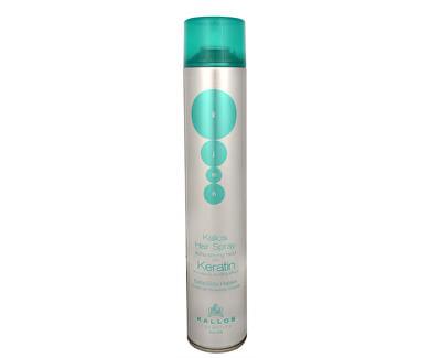 Extra silně tužící lak na vlasy s keratinem (Hair Spray Extra Strong With Keratin) - SLEVA - prasklé víčko, lepené