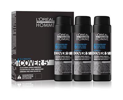 Gelová barva na vlasy pro muže Homme Cover 5 3 x 50 ml