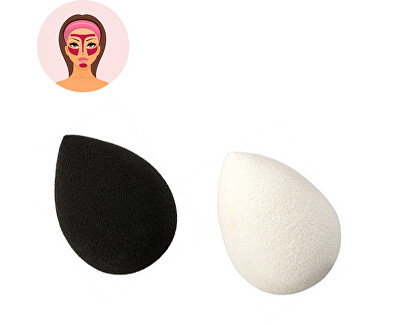 Sefiros Houbička na make-up Black & White (Make-up Blender) 1 ks