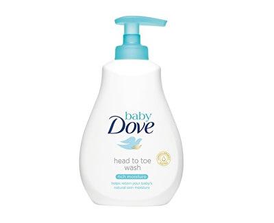 Dove Mycí gel pro děti na tělo i vlásky Baby (Head To Toe Wash Rich Moisture)