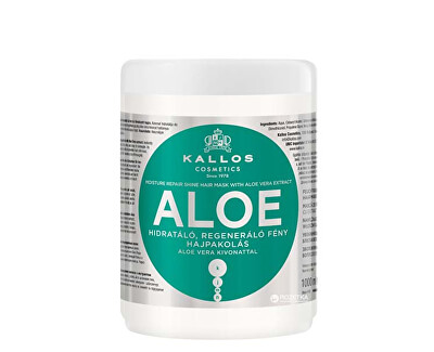 Kallos Obnovující maska s Aloe Vera (Aloe Vera Moisture Repair Shine Hair Mask)