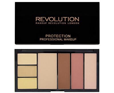 Makeup Revolution Paletka pro celou tvář - 3x korektor, pudr a konturovací sada v jednom (Protection Palette)