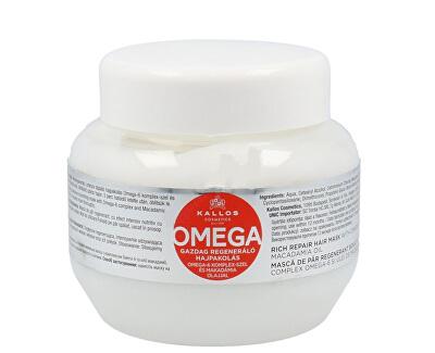 Regenerační maska na vlasy s omega-6 komplexem a makadamia olejem (Omega Hair Mask) - SLEVA - poškozená etiketa